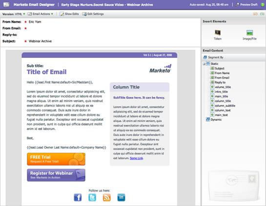 Marketo Email Marketing Templates