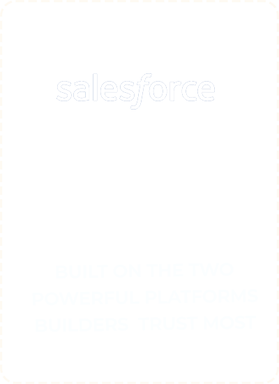 homebuilder crm solution built on pivotal and salesforce platforms