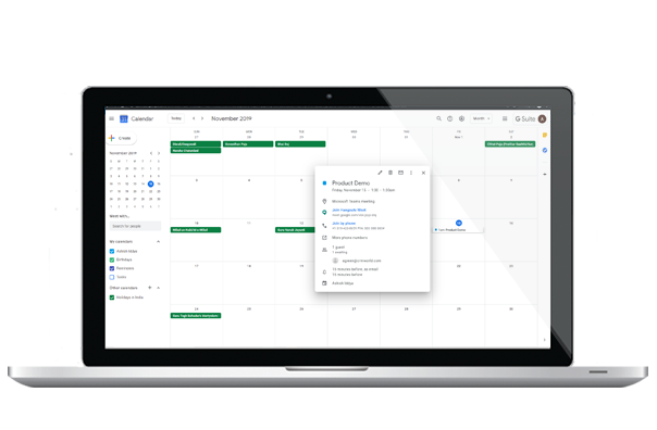 see events in Google calendar